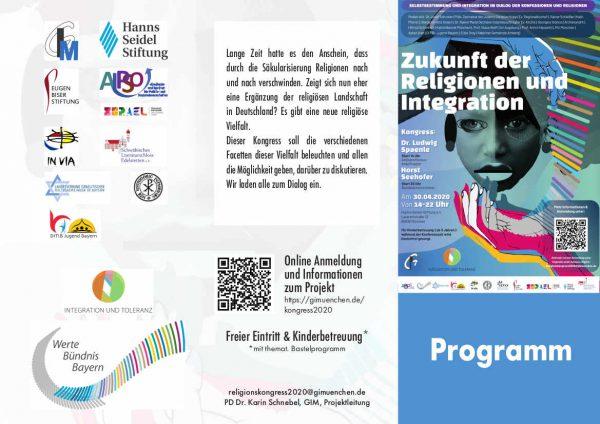 Tagesablauf zum Kongress Zukunft der Religionen und Integration - Vielfalt erleben