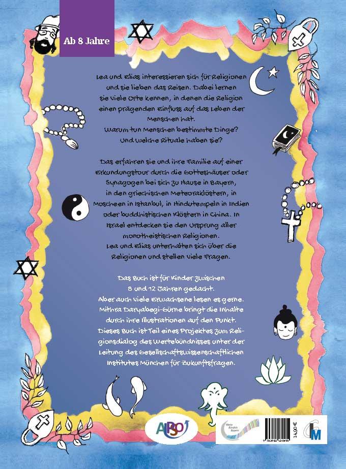 Rückseite: Eine kleine Reise durch die Religionen