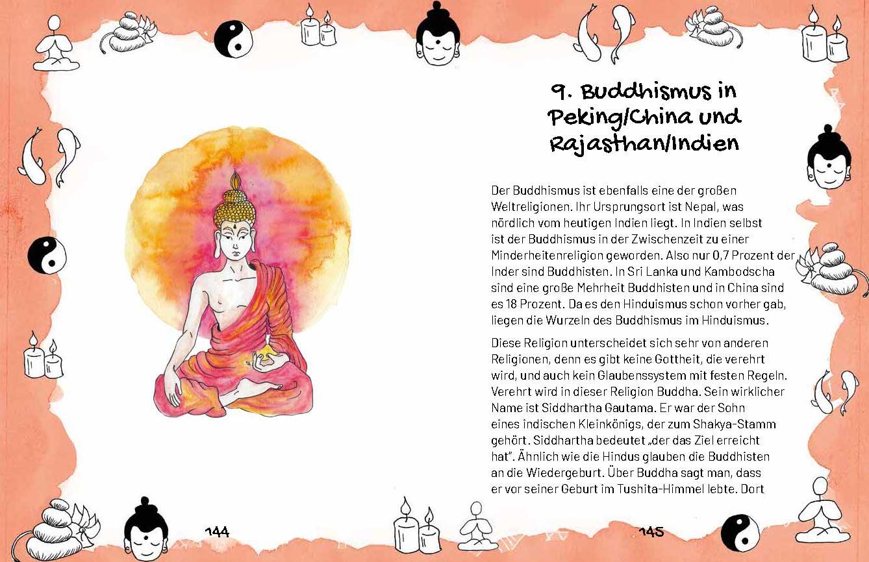 Buchseite: Eine kleine Reise durch die Religionen