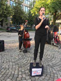 Karin Schnebel Speakerscorner Neuperlach Antisemitismus